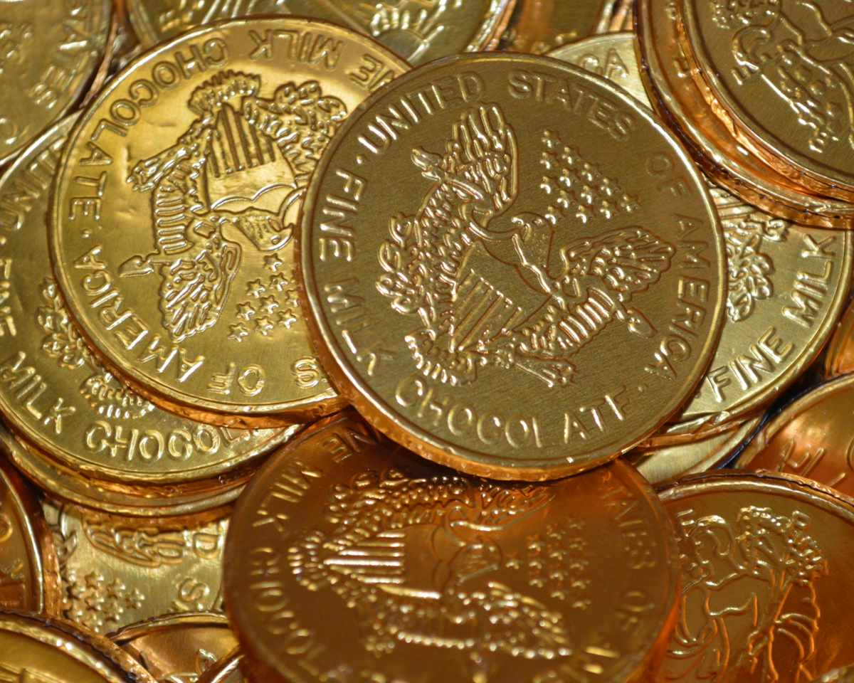 Foil Wrapped Chocolate Coins | Bulk Chocolate Coins - Candy Favorites
