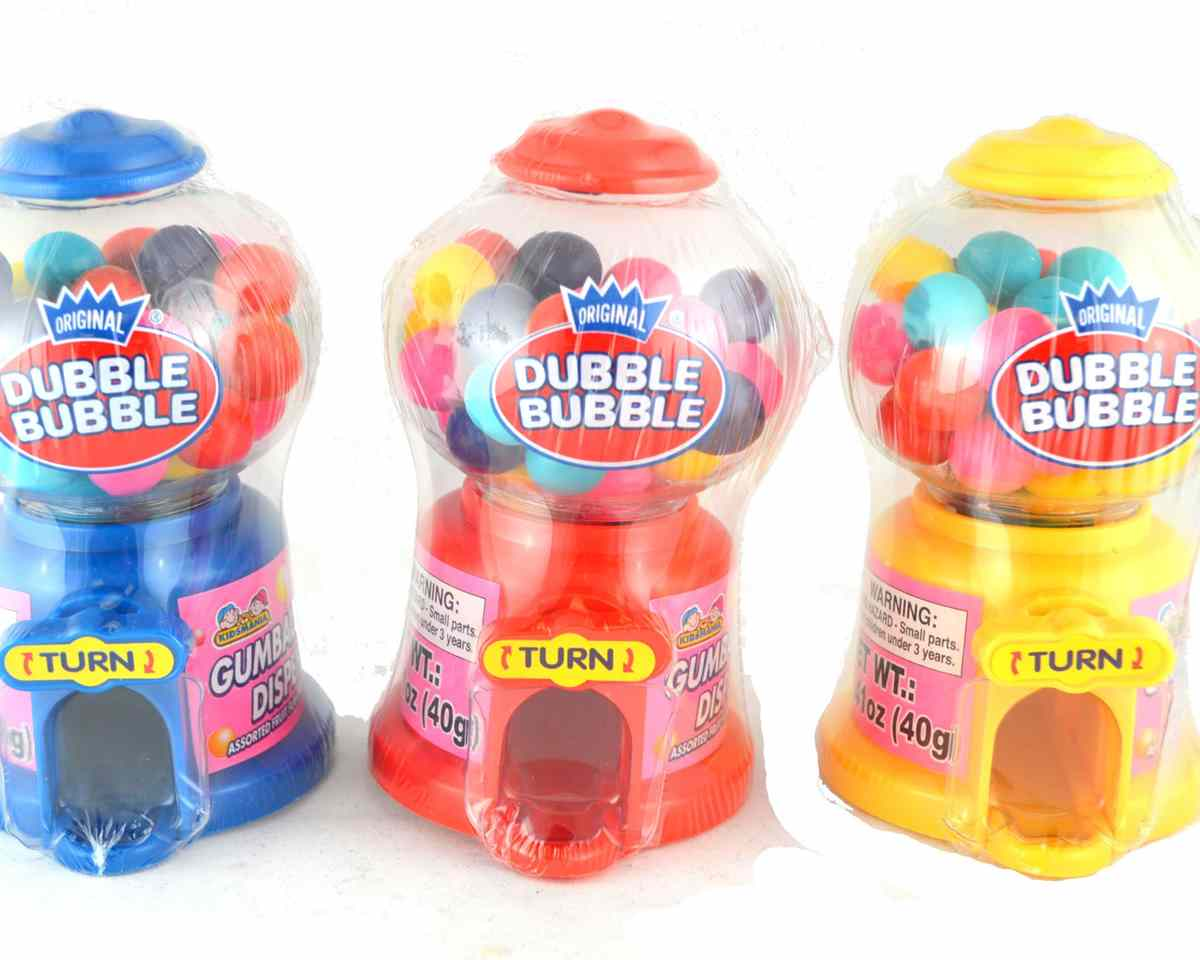 Miniature Bubble Gum Machines