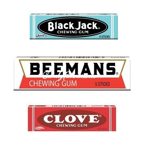 Beemans, Blackjack and Clove Gum