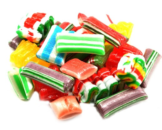 unwrapped christmas candy - Christmas Hard Candy